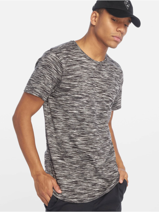 Urban Classics T-Shirty Striped Melange czarny