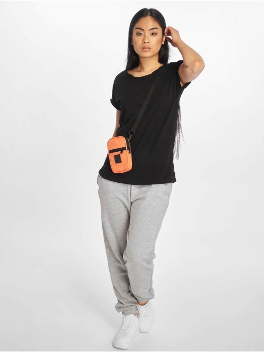 Urban Classics T-Shirty Pigment Dye Cut Open czarny