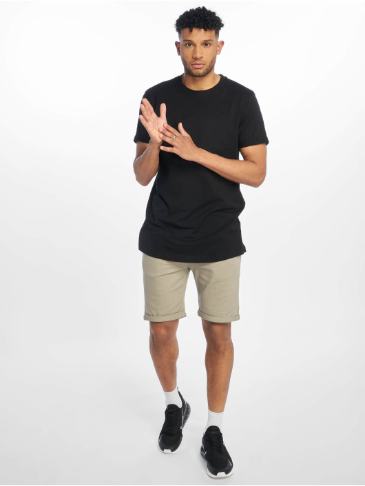 Urban Classics T-Shirty Short Shaped Turn Up czarny