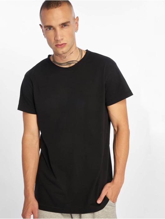 Urban Classics T-Shirty Pigment Dye High Low czarny