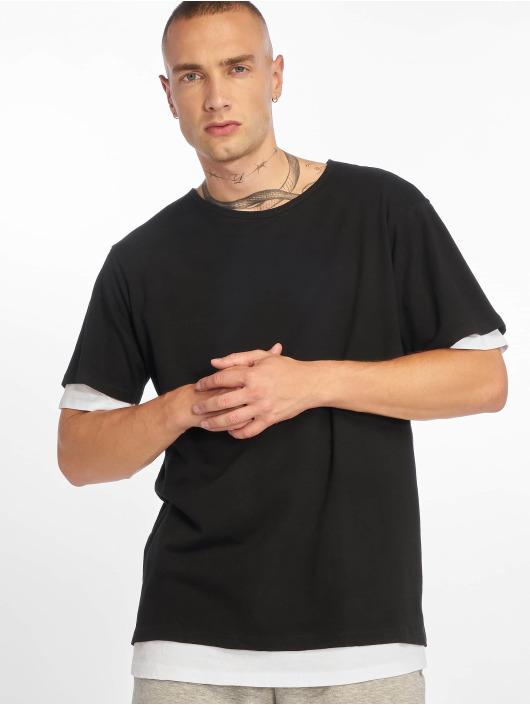 Urban Classics T-Shirty Full Double Layered czarny