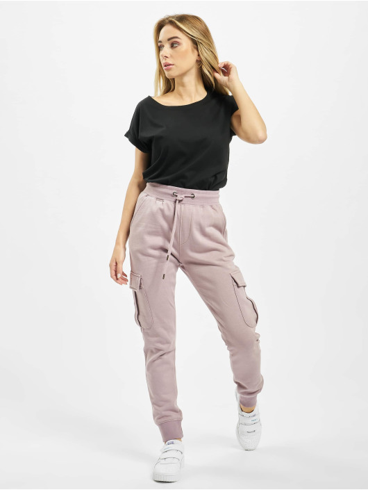 Urban Classics T-Shirty Ladies Organic Extended czarny