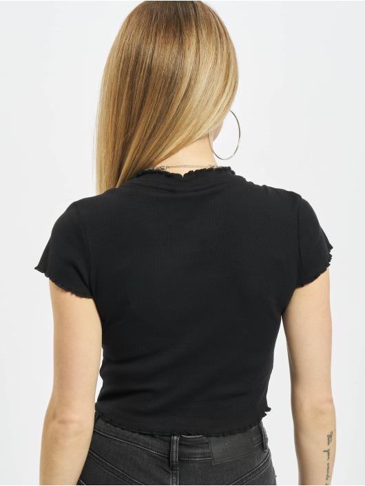 Urban Classics T-Shirty Cropped Rib czarny