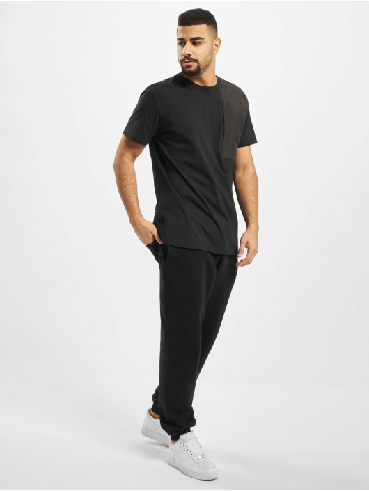 Urban Classics T-Shirty Military Shoulder Pocket czarny