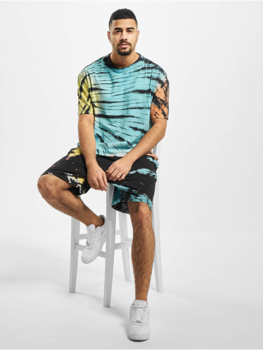 Urban Classics T-Shirty Tie Dye Oversized T-Shirt czarny