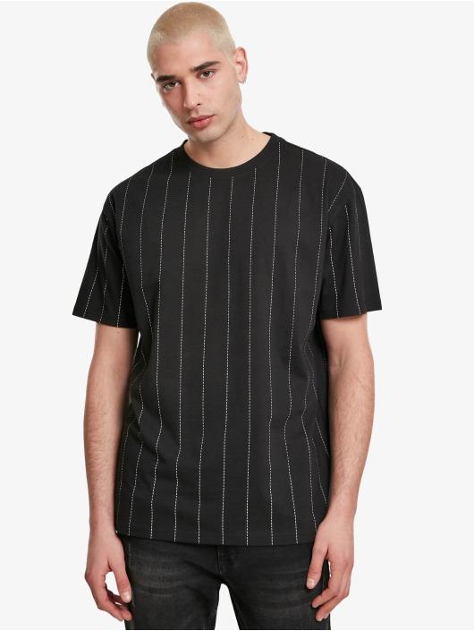 Urban Classics T-Shirty Oversized Pinstripe czarny