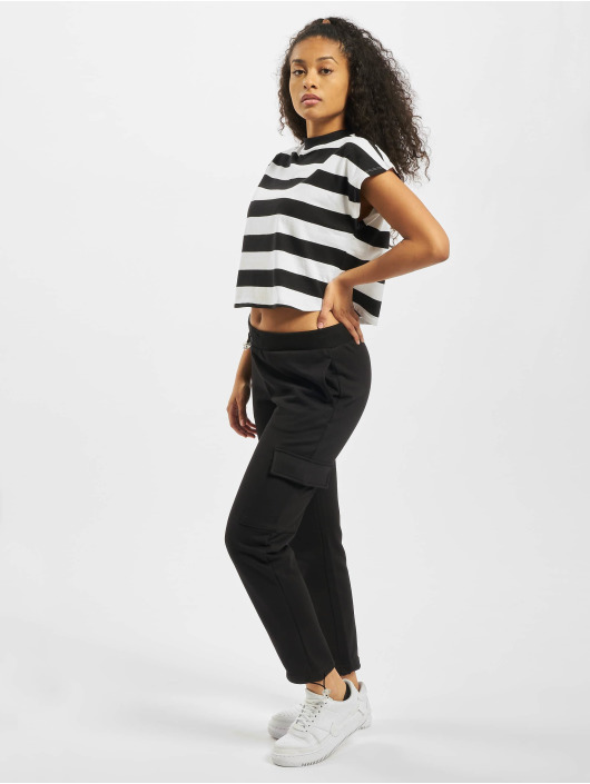 Urban Classics T-Shirty Stripe Short czarny