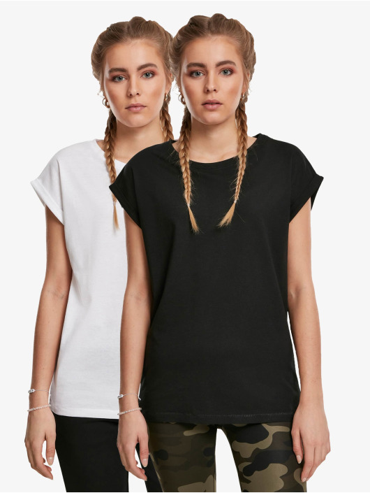 Urban Classics T-Shirty Extended Shoulder 2-Pack czarny
