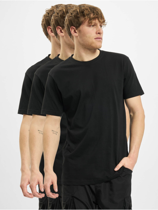 Urban Classics T-Shirty Basic Tee Mix 3-Pack czarny
