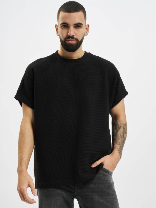Urban Classics T-Shirty Cut On Sleeve Naps Interlock czarny