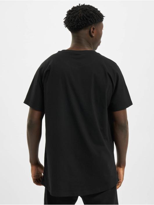 Urban Classics T-Shirty Long Shaped Big Logo Tee czarny