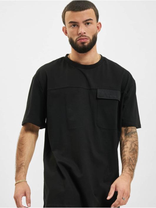 Urban Classics T-Shirty Oversized Big Flap Pocket czarny