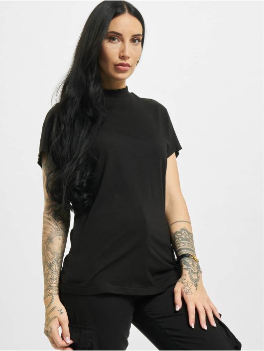 Urban Classics T-Shirty Oversized Cut On Sleeve Viscose czarny