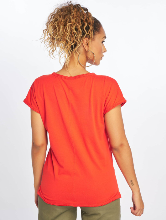 Urban Classics T-Shirty Pigment Dye Cut Open czerwony