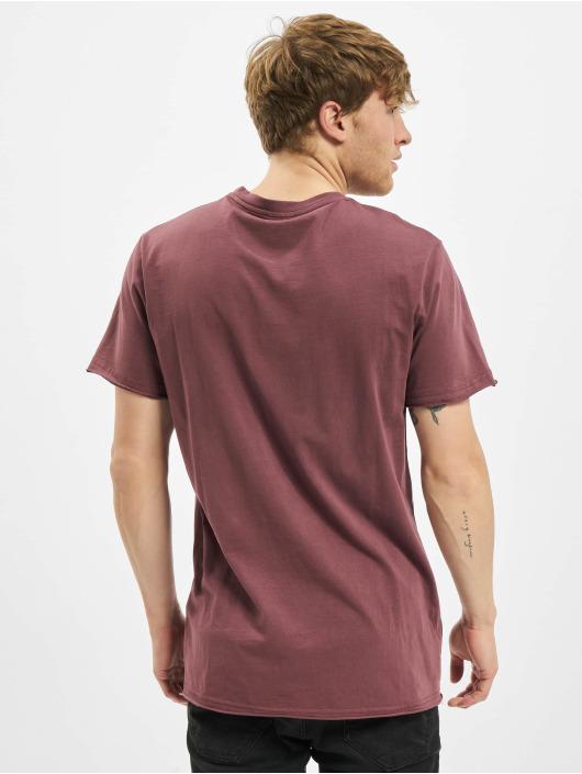 Urban Classics T-Shirty Open Edge Pigment Dyed Basic czerwony