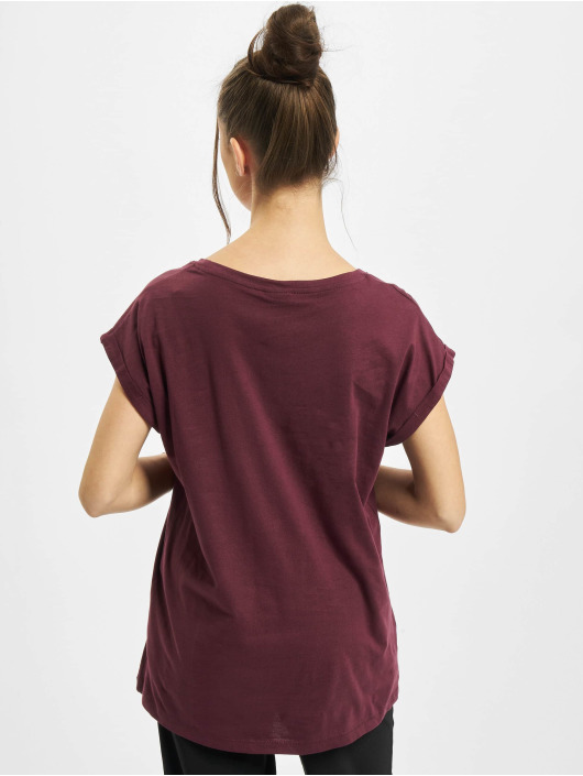 Urban Classics T-Shirty Ladies Extended Shoulder czerwony