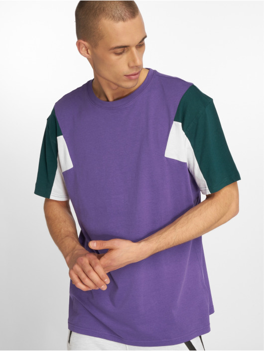 Urban Classics T-Shirty 3-Tone fioletowy