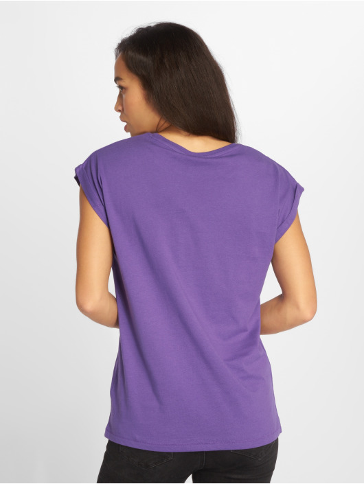 Urban Classics T-Shirty Extended fioletowy
