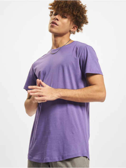 Urban Classics T-Shirty Shaped Long fioletowy