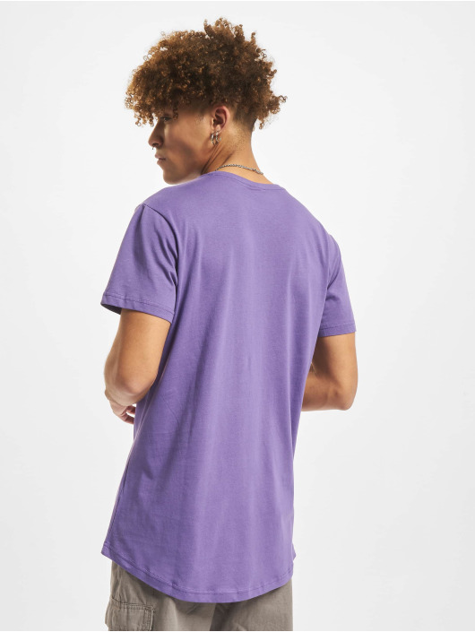 Urban Classics T-Shirty Shaped Long fioletowy