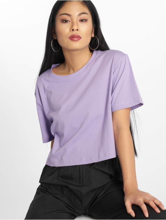 Urban Classics T-Shirty Short Oversized fioletowy