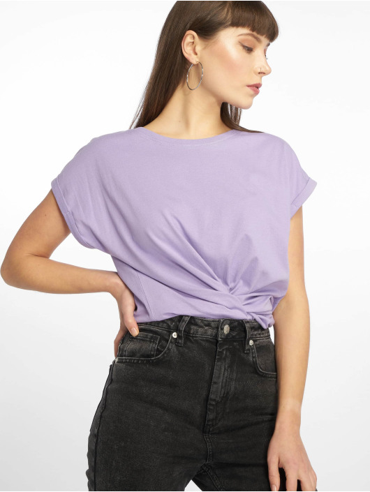 Urban Classics T-Shirty Extended Shoulder fioletowy