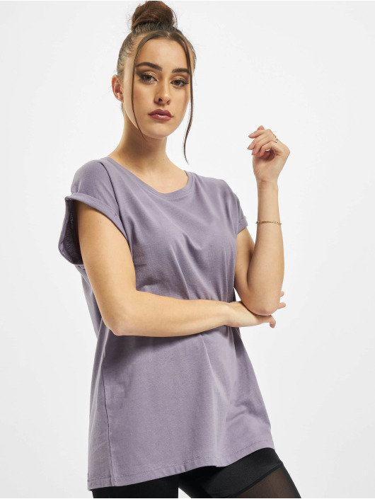 Urban Classics T-Shirty Ladies Extended Shoulder fioletowy
