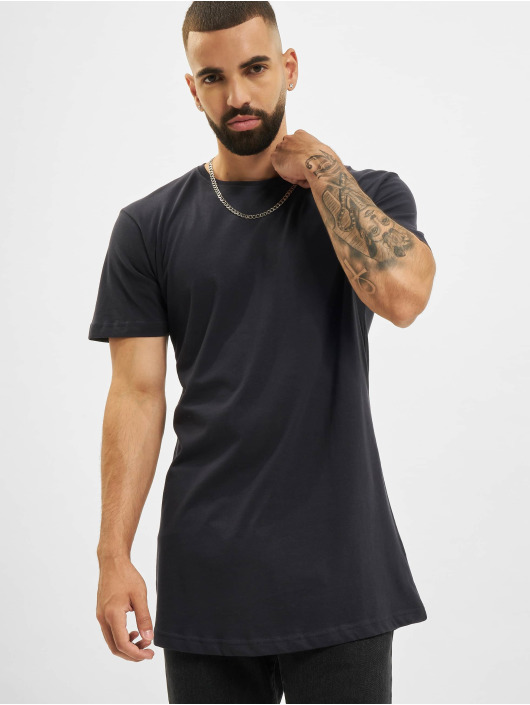 Urban Classics T-Shirty Shaped Long niebieski