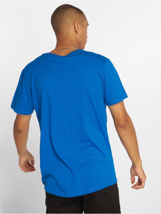 Urban Classics T-Shirty Shaped Long niebieski