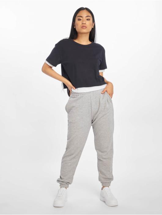 Urban Classics T-Shirty Full Double Layered niebieski