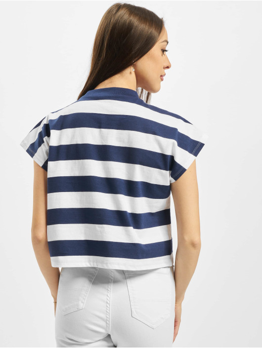 Urban Classics T-Shirty Ladies Stripe Short niebieski