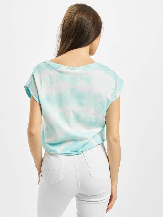 Urban Classics T-Shirty Ladies Short Tie Dye niebieski