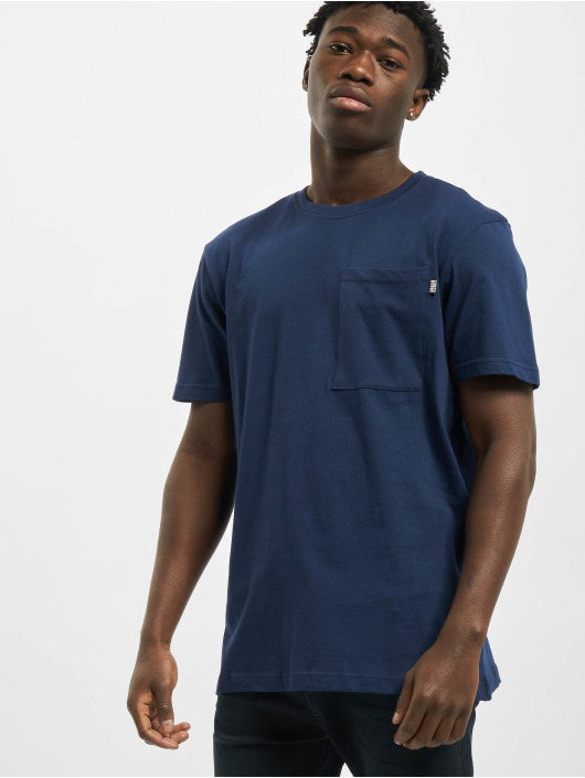 Urban Classics T-Shirty Basic Pocket niebieski