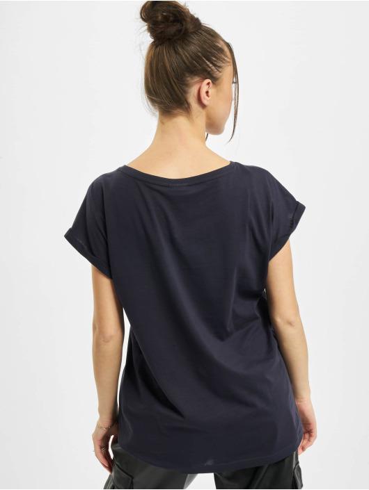 Urban Classics T-Shirty Ladies Organic Extended Shoulder niebieski
