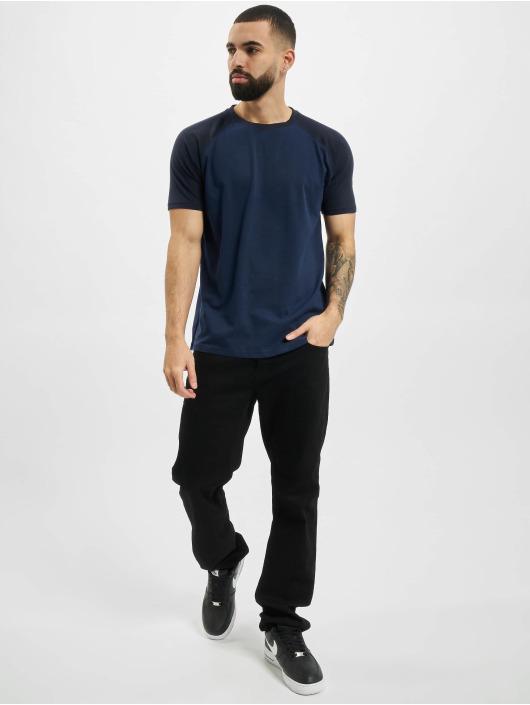Urban Classics T-Shirty Raglan Contrast niebieski