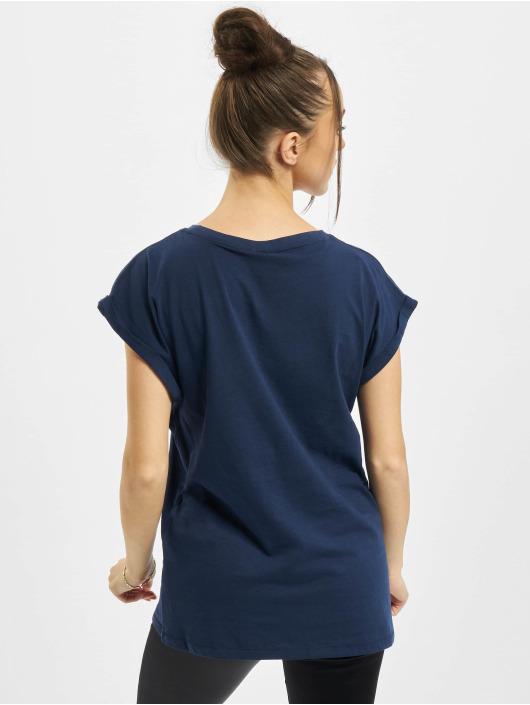 Urban Classics T-Shirty Ladies Extended Shoulder niebieski