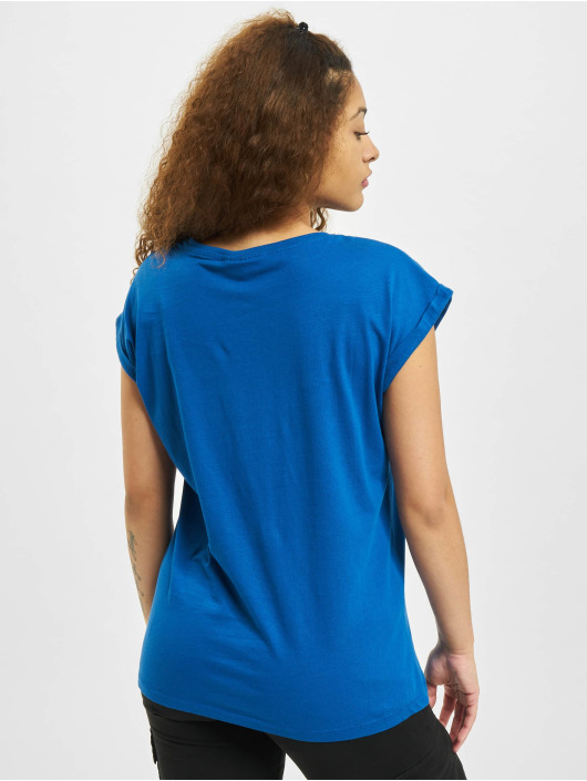 Urban Classics T-Shirty Extended Shoulder niebieski