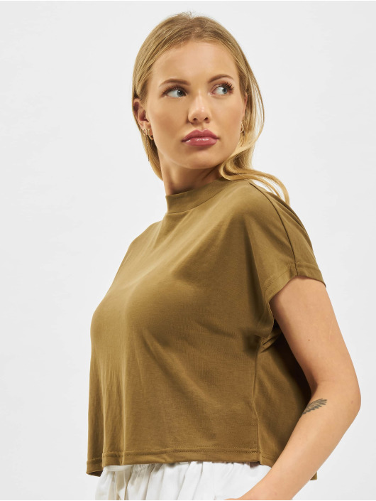 Urban Classics T-Shirty Ladies Modal Short oliwkowy