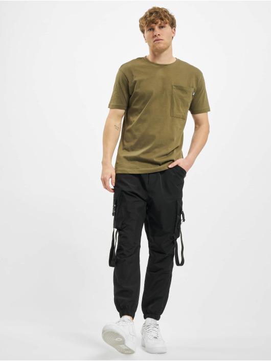 Urban Classics T-Shirty Basic Pocket oliwkowy