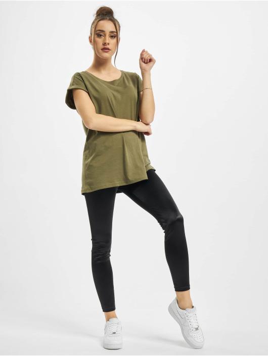 Urban Classics T-Shirty Ladies Organic Extended Shoulder oliwkowy