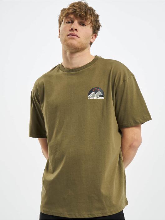 Urban Classics T-Shirty Horizon Tee oliwkowy