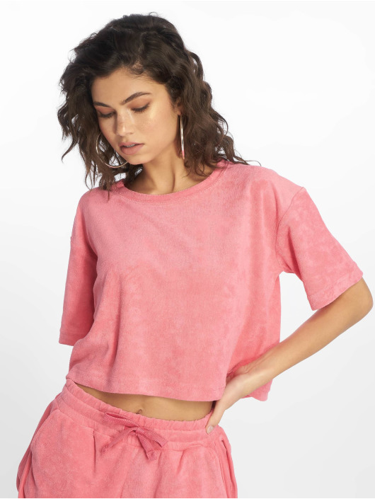 Urban Classics T-Shirty Short Towel pink