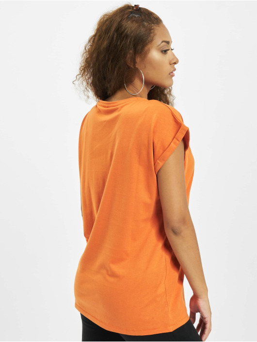Urban Classics T-Shirty Extended Shoulder pomaranczowy