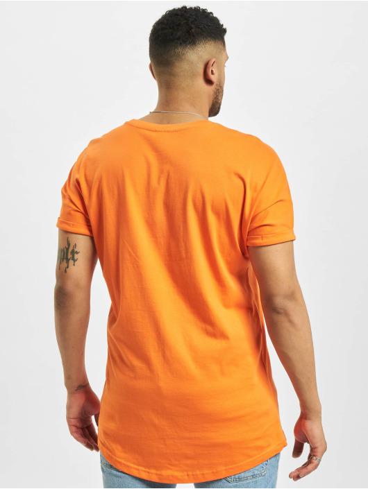 Urban Classics T-Shirty Long Shaped Turnup pomaranczowy