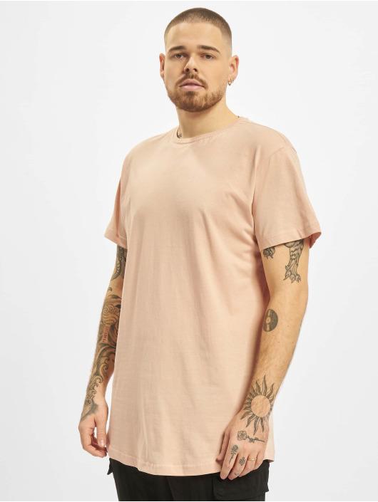 Urban Classics T-Shirty Shaped Long rózowy