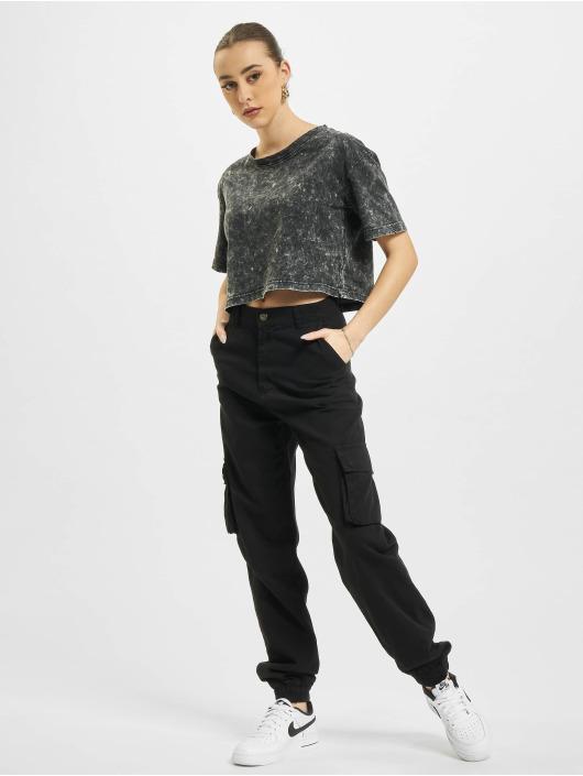 Urban Classics T-Shirty Random Wash Short Oversize szary