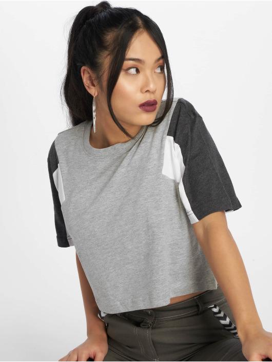 Urban Classics T-Shirty 3-Tone szary