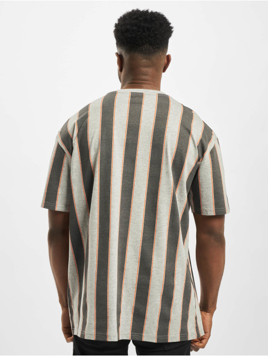 Urban Classics T-Shirty Printed Oversized Bold Stripe szary