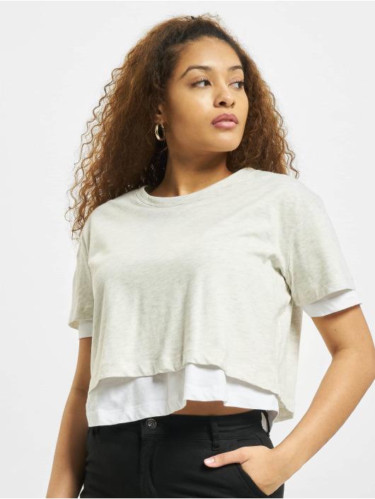 Urban Classics T-Shirty Full Double Layered szary