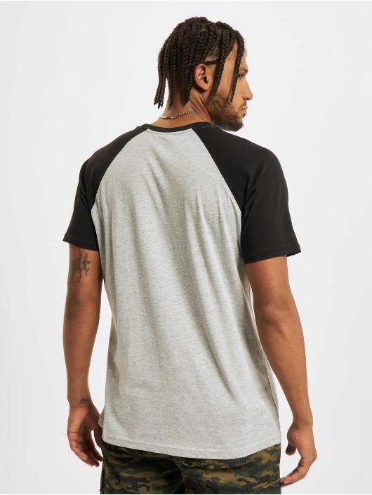 Urban Classics T-Shirty Raglan Contrast szary